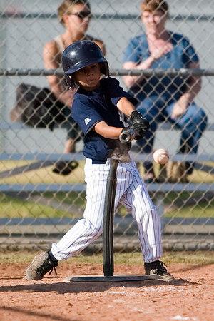 #09 Jason Herrera at bat. Pinto North Side Yankees vs. Tigers, 2006 Ocean View Pony Baseball, Pinto Division.