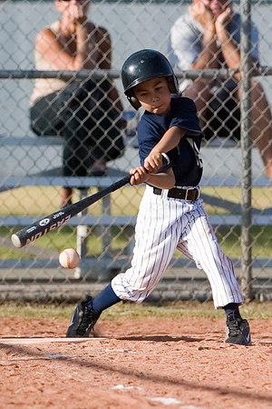 #11 James Torres at bat. Pinto North Side Yankees vs. Tigers, 2006 Ocean View Pony Baseball, Pinto Division.