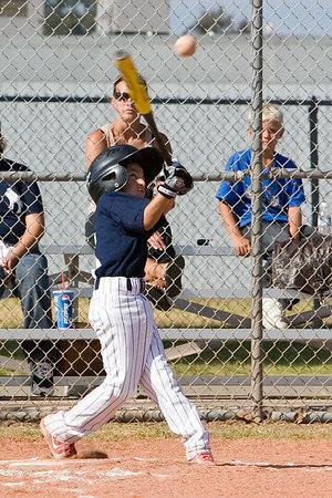 #05 Nick Arroyo at bat. Pinto North Side Yankees vs. Tigers, 2006 Ocean View Pony Baseball, Pinto Division.