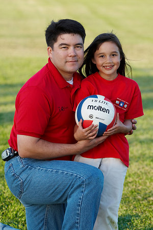 Ernie and Sierra Moore. Red Robins, US Youth Volleyball League.