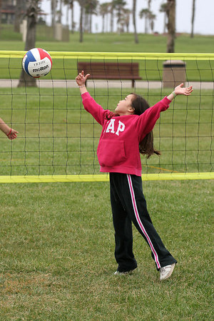 Sierra Moore. Volleyball practice