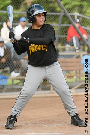 12U Ventura Pirates vs. Oxnard Red Sox. 2007 Ventura Pirates 4th Annual Memorial Weekend Tournament.
