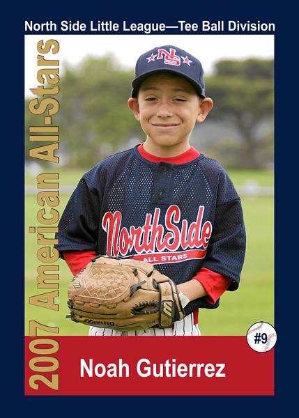 #09 Noah Gutierrez. North Side American, 2007 Little League All-Stars, Tee Ball Division