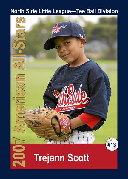#13 Trejann Scott. North Side American, 2007 Little League All-Stars, Tee Ball Division