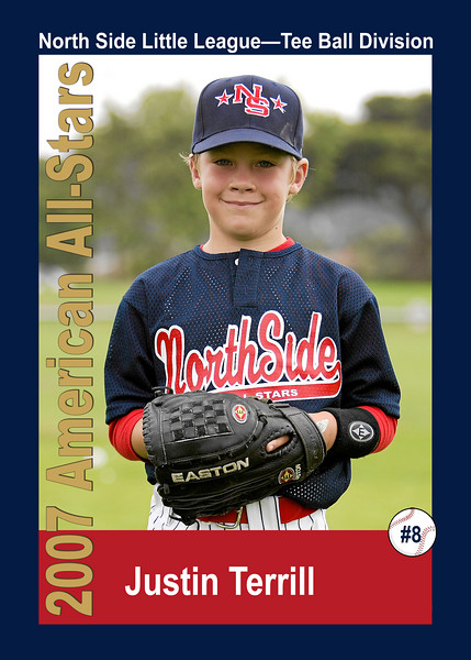 #08 Justin Terrill. North Side American, 2007 Little League All-Stars, Tee Ball Division