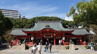 The Honden (Main Hall) of Ikuta shrine
