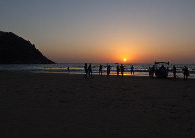 Kudle Beach and an Arabian Sea sunset.