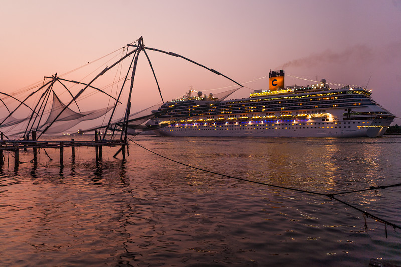 Sunset time at Fort Kochi, Kerala, India