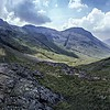 Great End, Scafell Pikes and Lingmell from Sty Head