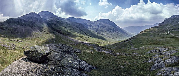 1999 : Great End, Scafell Pikes and Lingmell from Sty Head