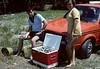1975-09 (003) Clamming Sebastian Inlet FL Ken Donaldson & Cindy