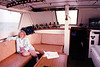 1990-09-03 Fishing Trip Jeanette Donaldson in cabin