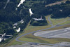 Over the departue end of the runway at Kodiak.