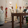 Bishop Dewane blesses the State's new portable Altar.