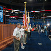 Members of the Knights of Columbus Color Guard rehearsing for the presentation of colors at the 2012 Republican National Convention