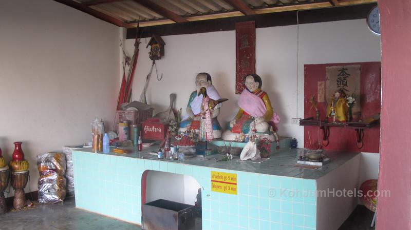 Shrine near the pier in Baan Koh Jum Village Koh Jum
