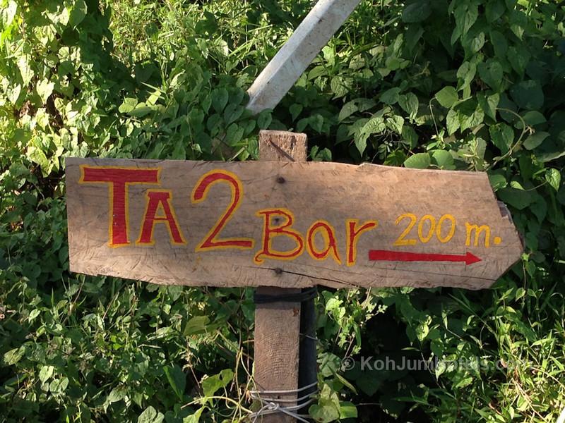 Sign for Tattoo and Bar near Baan Koh Jum Village Koh Jum