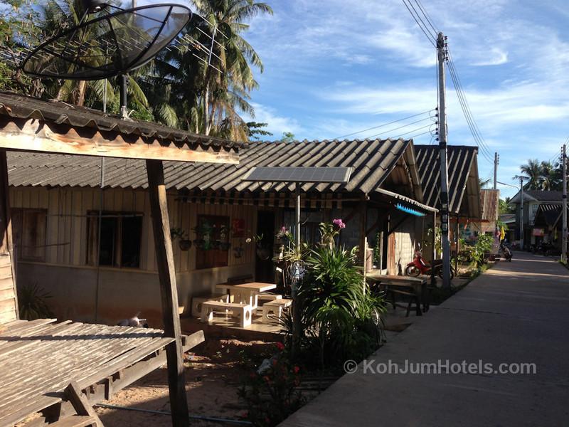 Shops and homes in Baan Koh Jum Village Koh Jum