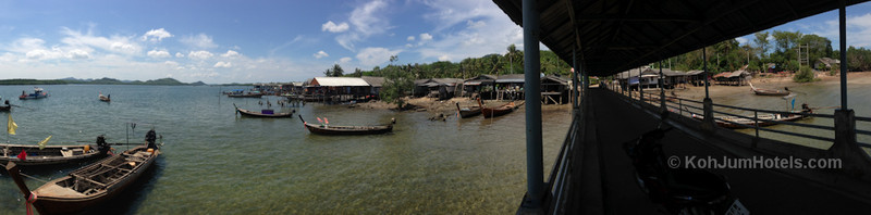 Panoramic View of Baan Koh Pu Village  Koh Jum
