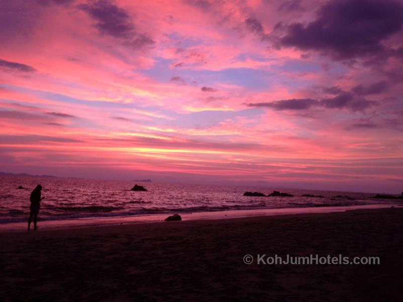 Sunset from Ao Si Beach Koh Jum