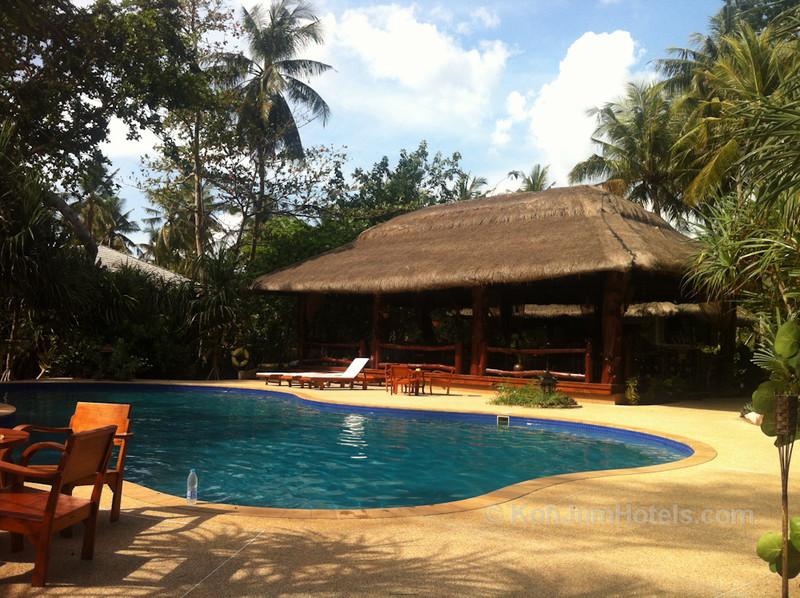 Urban Cafe overlooking the pool at Koh Jum Beach Villas