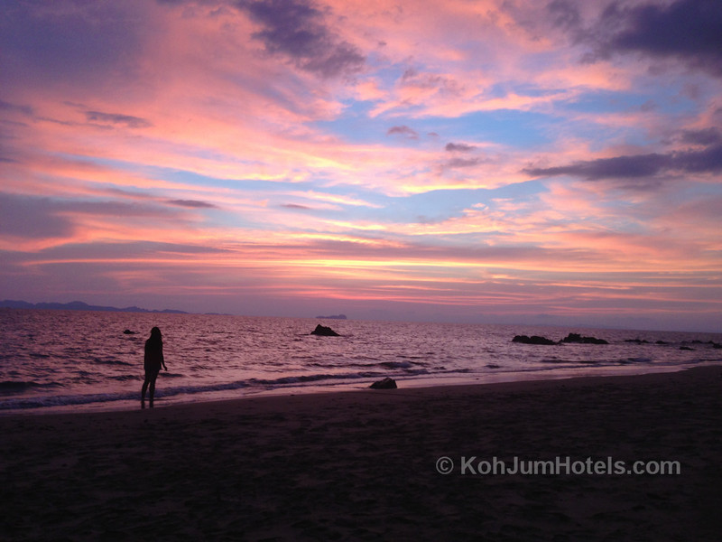 Sunset from Ao Si Beach Koh Jum