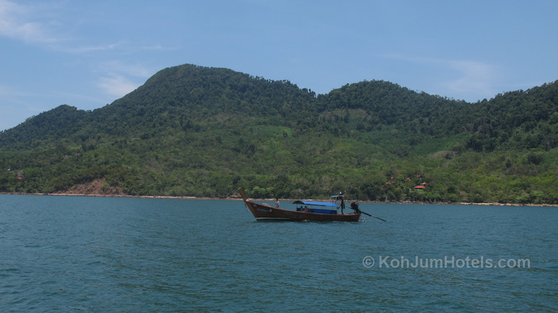 View of Koh Jum from longtail boat
