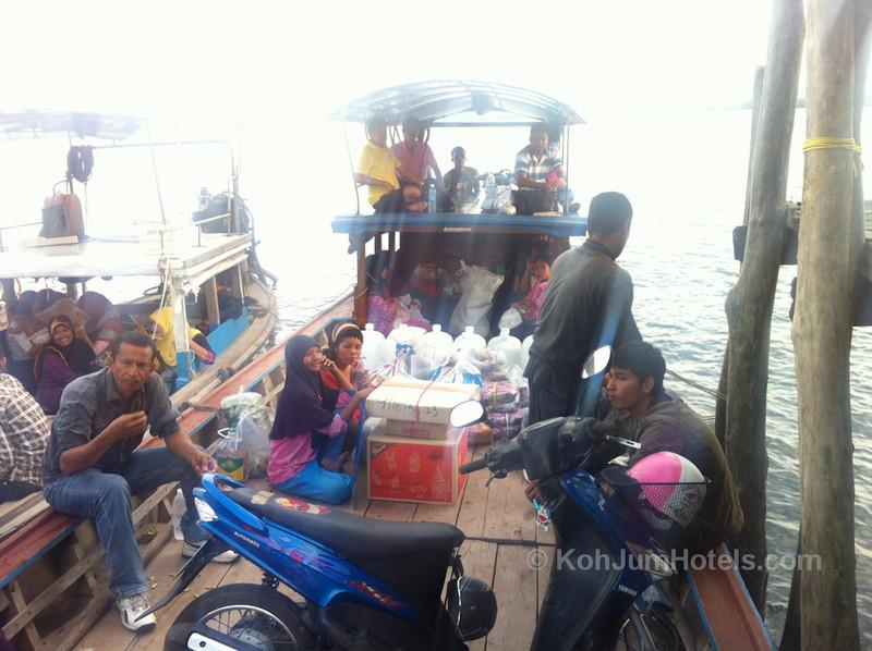Laem Kruat Pier longtail boat to Koh Jum