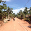 Driving on dusty roads on Koh Jum