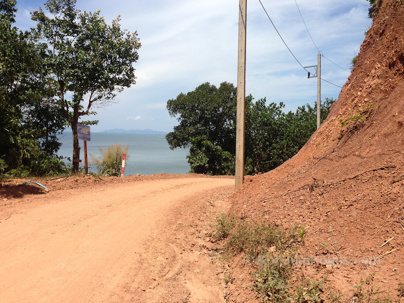 Road going to Ting Rai Beach Koh Jum