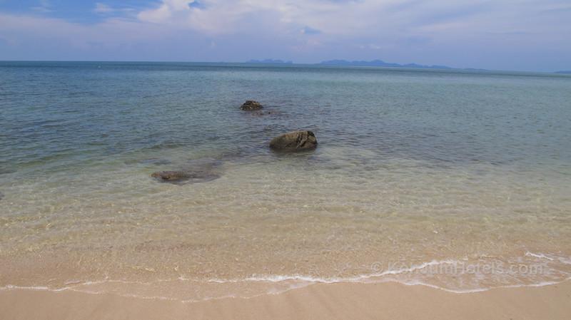 Ting Rai Beach Koh Jum with Koh Phi Phi in the distance