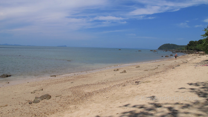 Rocky beach area outside Ting Rai Bay Resort Ting Rai Beach Koh Jum