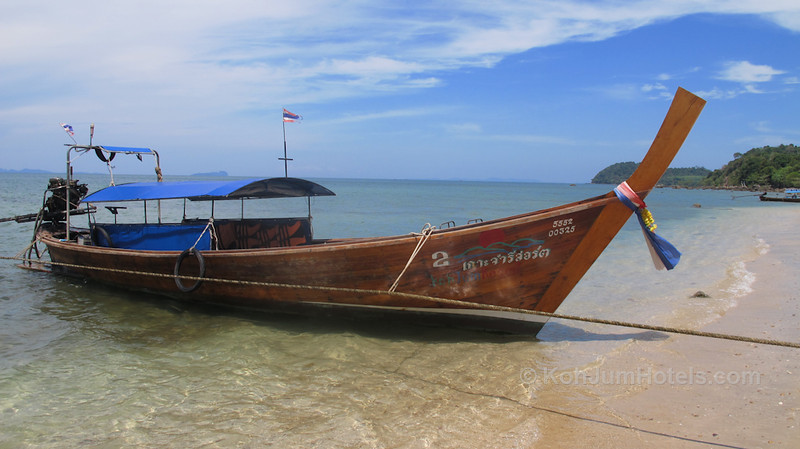 Longtail from Koh Jum Resort Ting Rai Beach Koh Jum