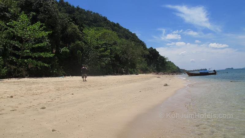 Looking South along Ting Rai Beach Koh Jum