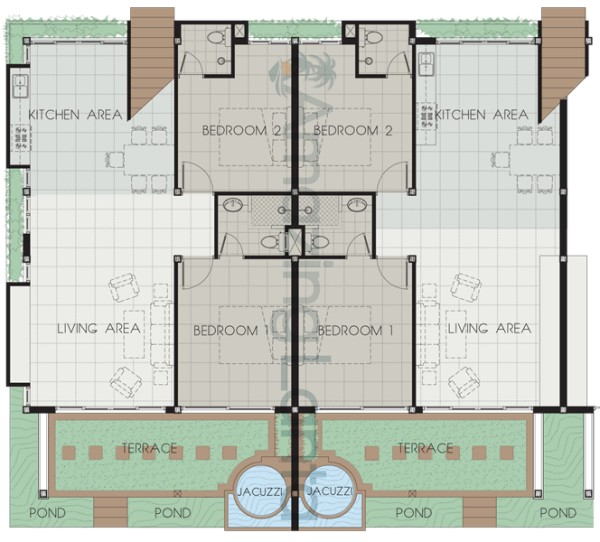 Klong Nin Beachfront Apartment Floorplan