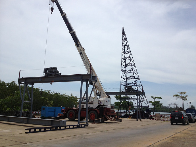 Koh lanta bridge being built