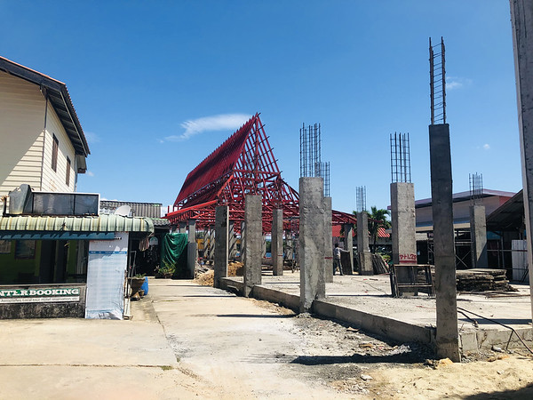 New ferry terminal under construction in Saladan. Koh Lanta