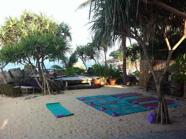 Yoga @ Moonlight Bay resort, Koh Lanta