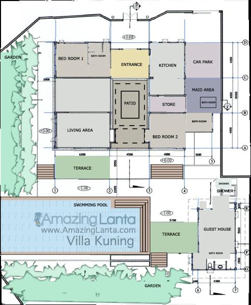 Floor Plan for Villa Kuning , Koh Lanta