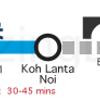 krabi-airport-to-koh-lanta-minivan-route