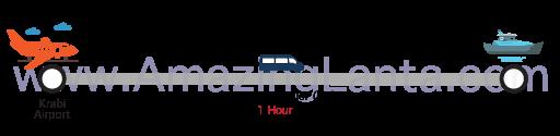 Krabi airport to Laem Kruat Pier minivan route