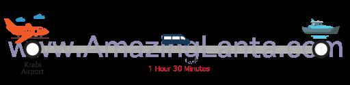 Krabi airport to Pakmeng Pier minivan route