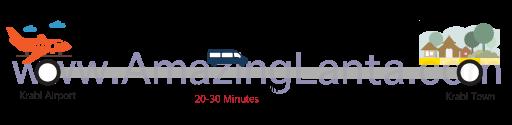 Krabi airport to Krabi Town minivan route