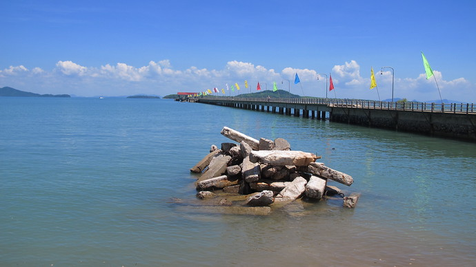 The Pier in the Old Town of Koh Lanta