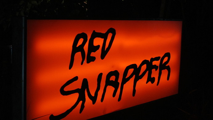 Red Snapper Sign Best Restaurant on lanta
