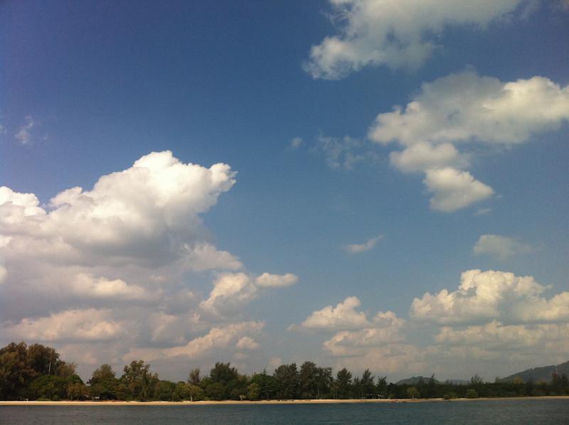 Koh Lanta Noi seen from the pier of Serenity Spa in Saladan