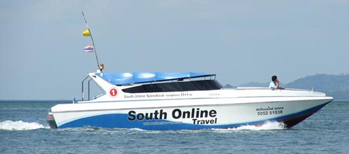 Speedboat used from Koh Lanta to Krabi mainland pier