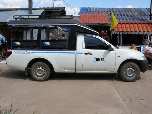 Car used on Koh Lanta to transfer guests on express transfer