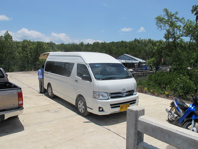 The air-conditioned minivan that will take you the Krabi to the Ao Nang pier