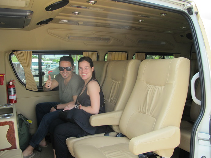 Inside the luxury minivan